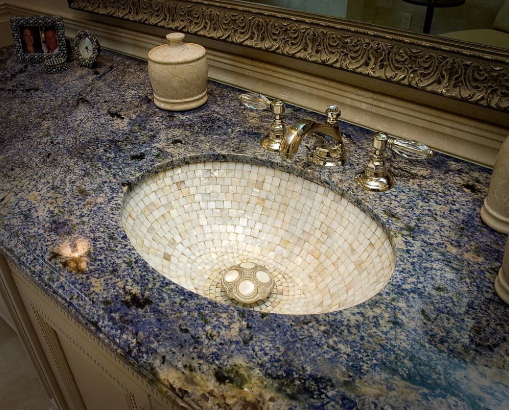 Design bathroom. luxe design bathroom detail ideas   mother of pearl sink