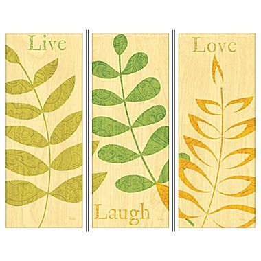Live, Laugh, Love Set of 3 Wall Art - jcpenney