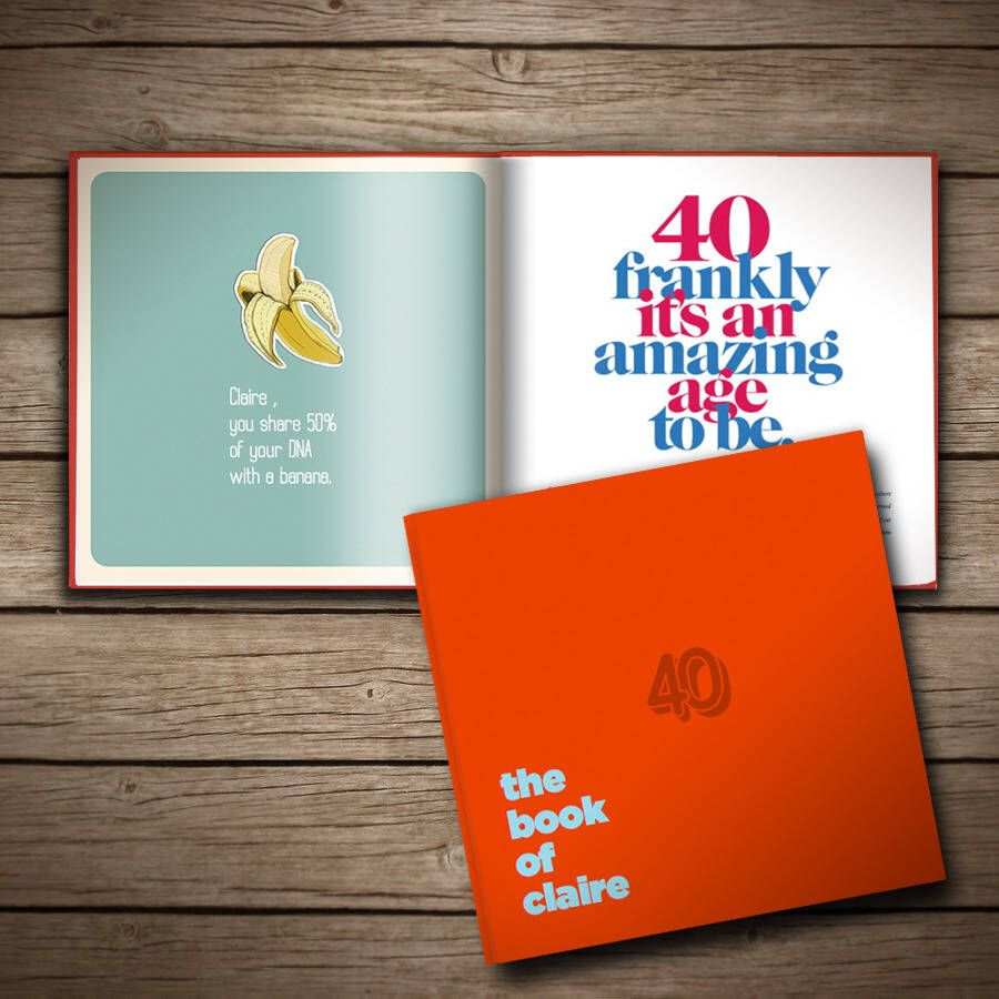 a personalised 40th birthday book hubby s big birthday pinterest