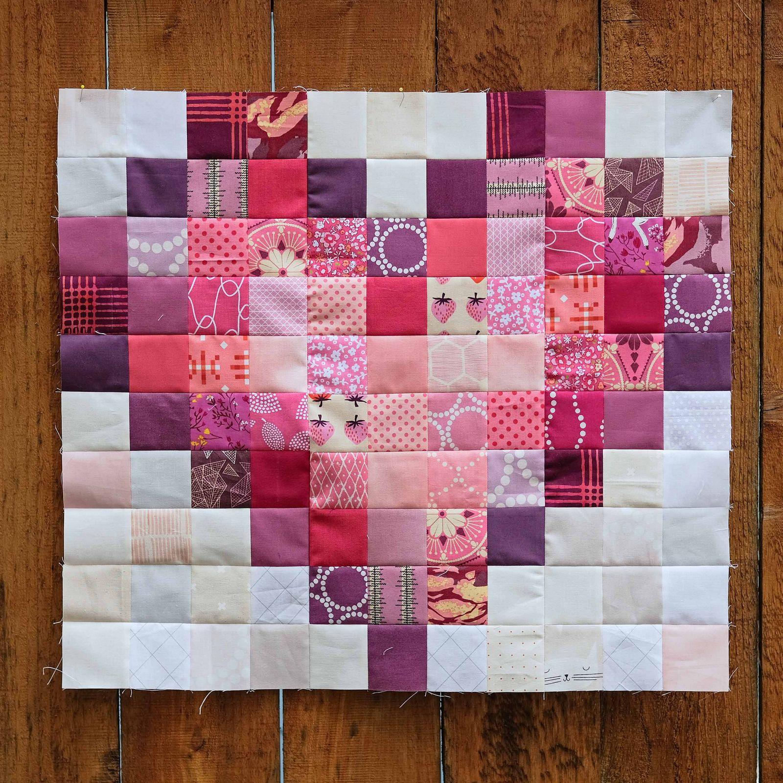 Pixel Love Quilt Tutorial