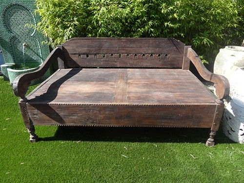 antique balinese teak daybed inspired by anjelica huston. Black Bedroom Furniture Sets. Home Design Ideas
