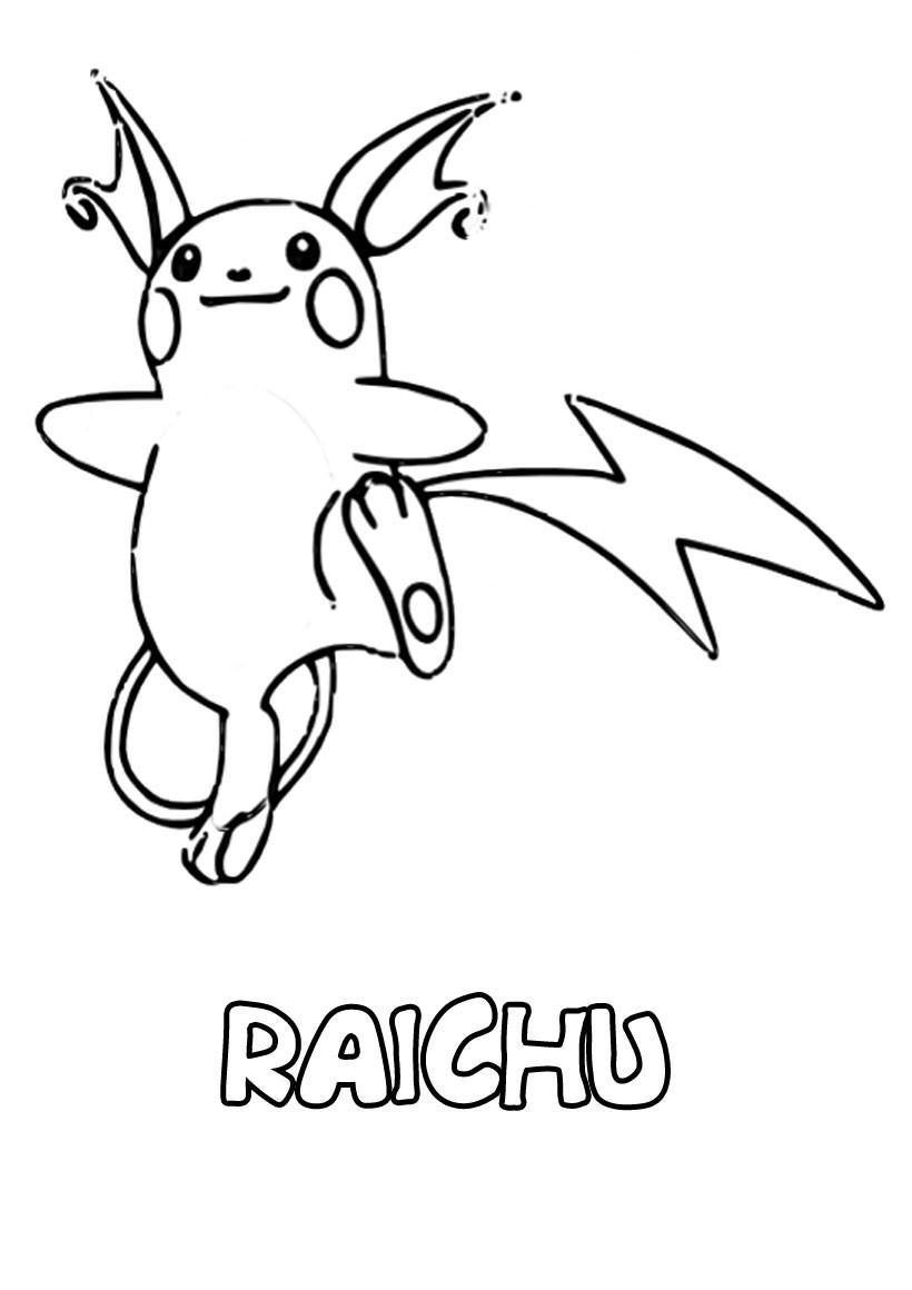51 Coloriage Imprimer Raichu Pokemon Coloring Pages Pokemon Coloring Pikachu Coloring Page
