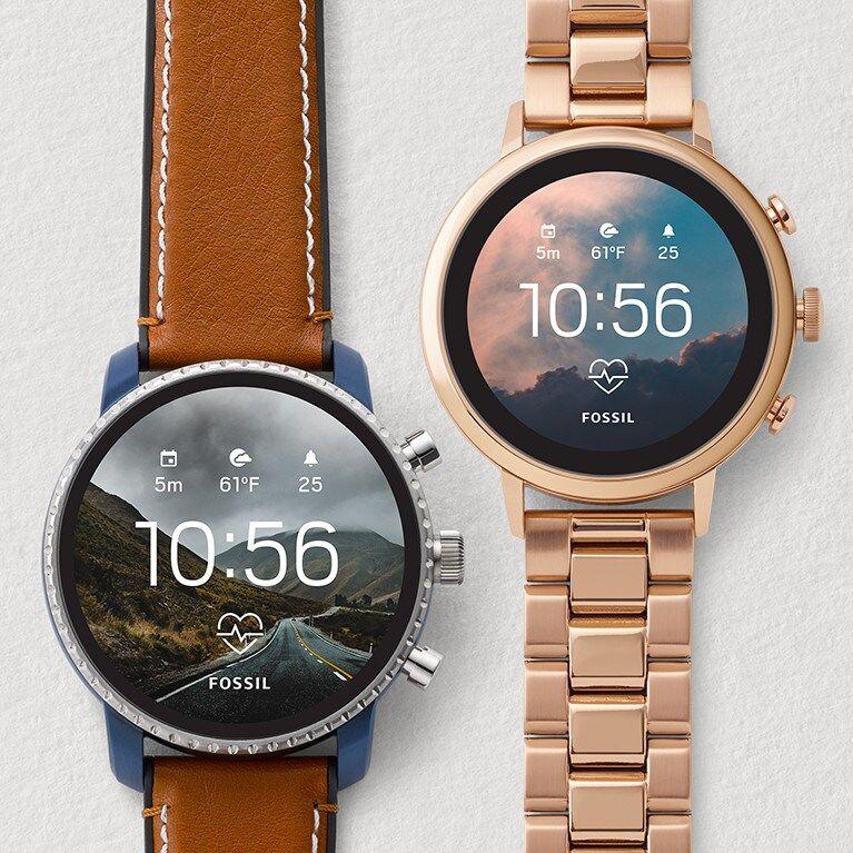 Gen 4 Smartwatch Venture HR Brown Leather Smartwatch
