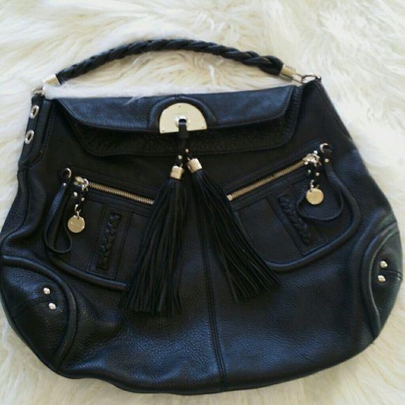 SALE Bebe Black Leather Tassel Bag Gorgeous Bebe Black
