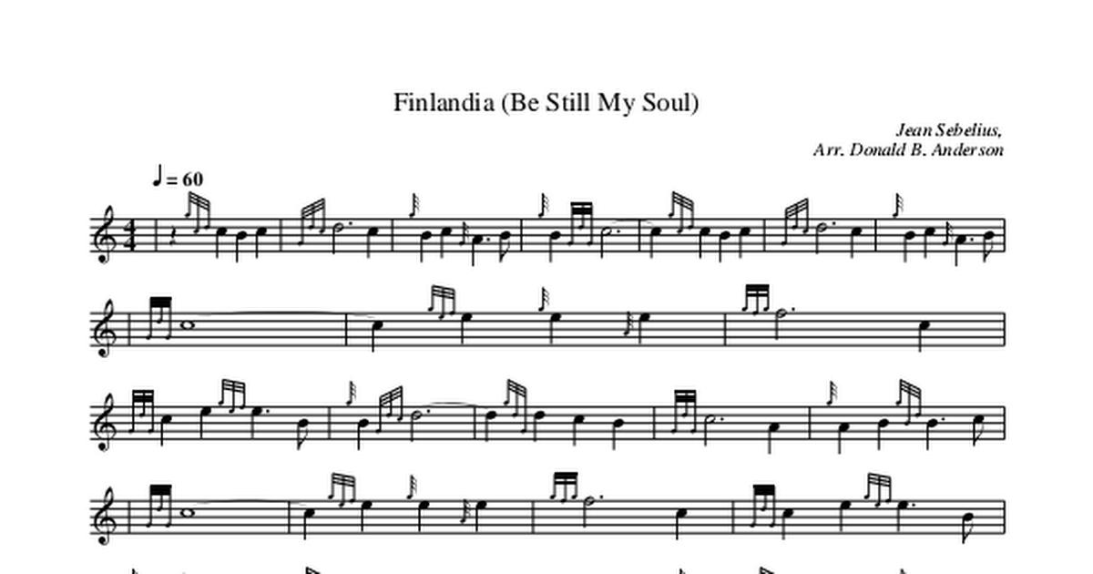 Finlandia (Be Still My Soul) Sibelius, Arr Donald B  Anderson pdf