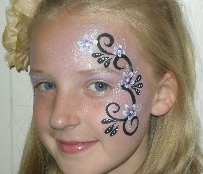 Photo of Face painting: template flowers