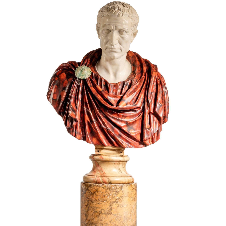 Bust Of A Roman Politician Marcus Junius Brutus Modern Sculpture Sculptures Decorative Objects
