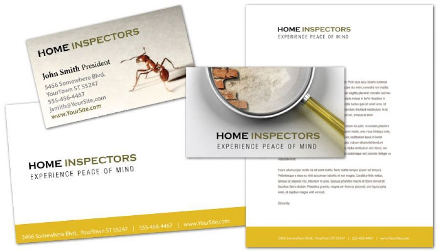 Business Card Template For Home Inspection Services Order Custom Business Card Design Custom Business Cards Business Card Design Card Design