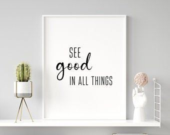 Quote Printable Wall Art The best view comes after the   Etsy