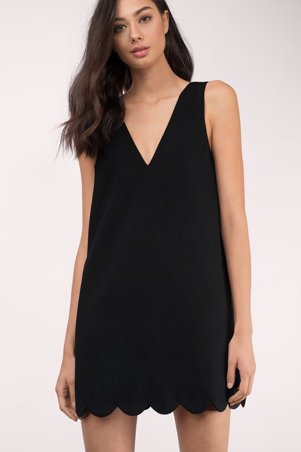 dc93643044 Wonder Why Scallop Shift Dress at Tobi.com  shoptobi