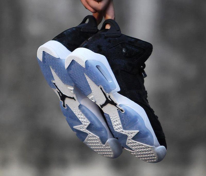 new styles fac2f 551a7 Nike Air Jordan 6 Retro PREM HC GG (881430-029) Heiress Black Suede