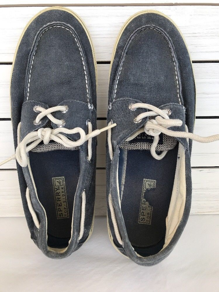 Sperry Mens Top Sider Blue Cotton