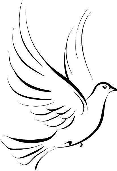 Photo of simple-black-dove-tattoo.jpg (412 × 600) –  simple-black-dove-tattoo.jpg (412 …