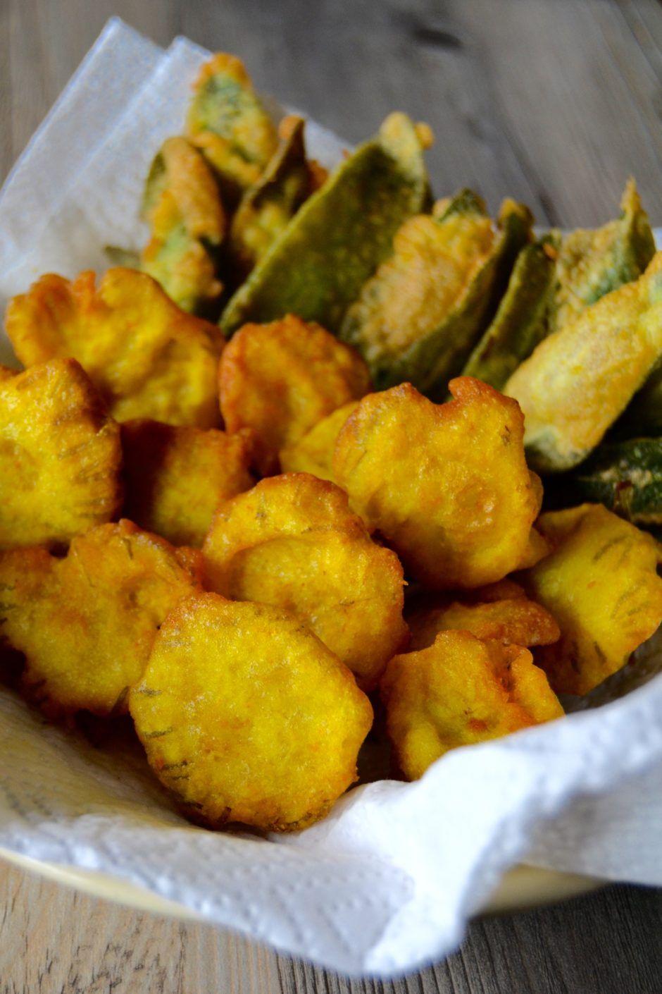 fiori fritti farina di riso e spezie