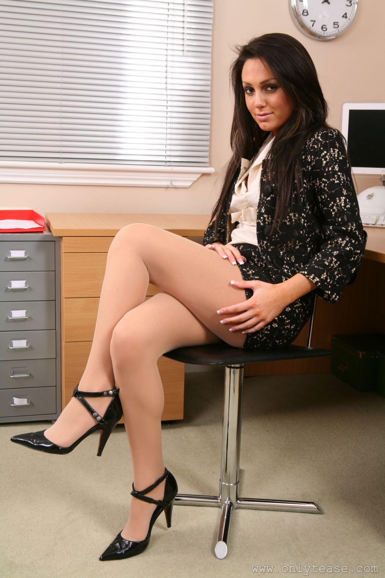 office girls pantyhose teacher nylons