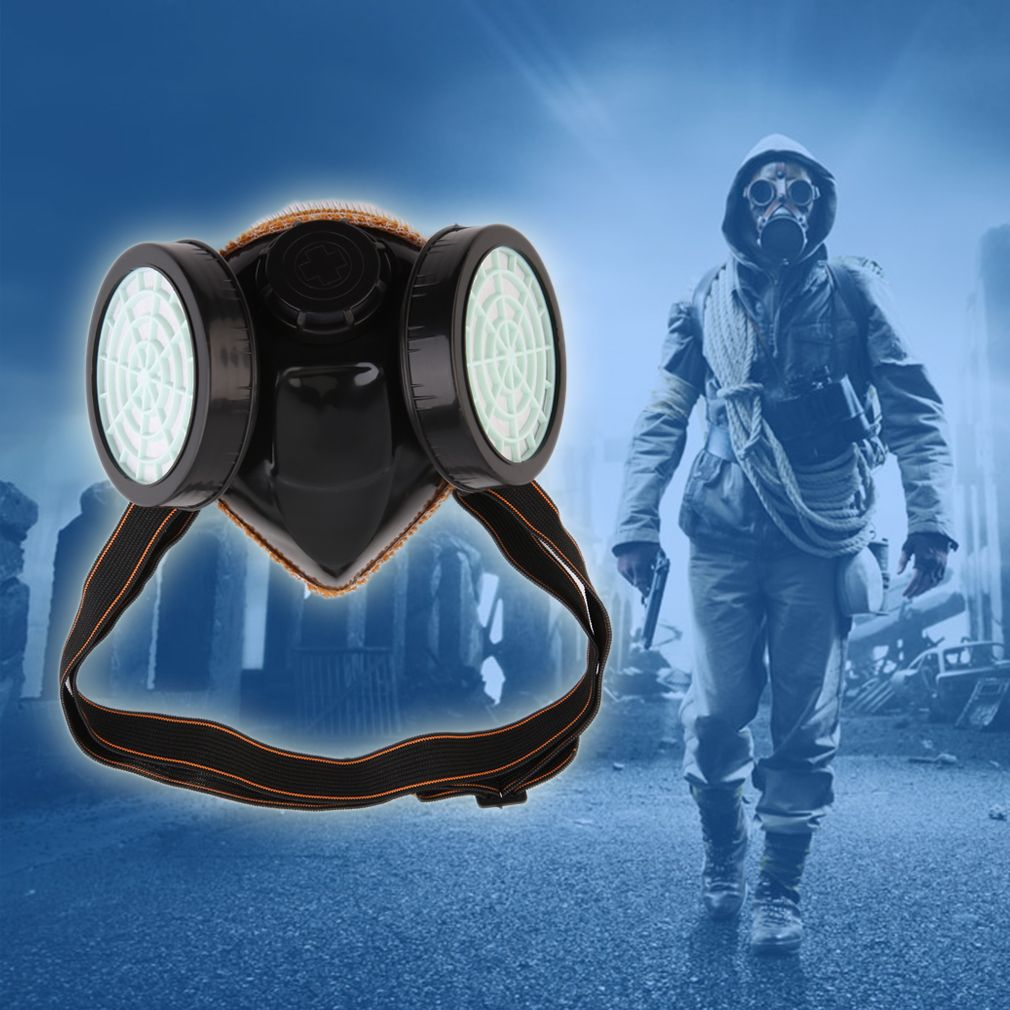 Protection Filter Double Gas Mask Chemical Gas Respirator