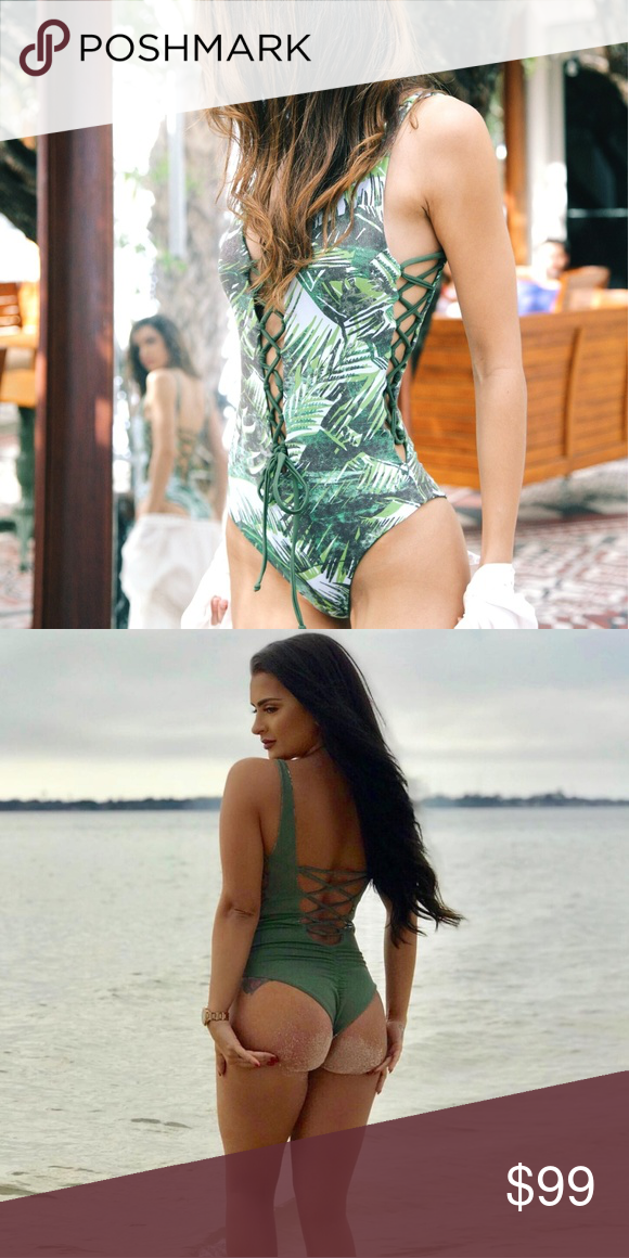 9272b9c3d862b Tie up reversible green leaf print one piece swim *As seen on MTV's Nilsa  from hit show Floribama Shore! Tropic House Swim is a new swimwear brand  offering ...