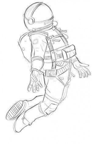 Astronaut Zeichnen Lernen Tutorial Kreative Zeichnungsideen