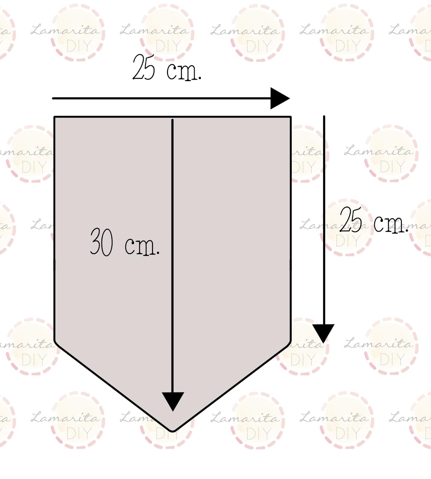 banderines de papel medidas - Buscar con Google | Decoracion de ...