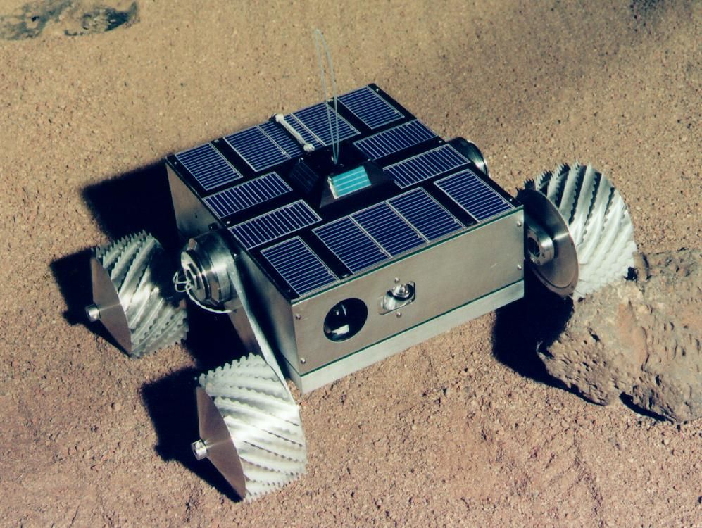 The Nanorover 3 from JPL, designed to be used for robotic ...