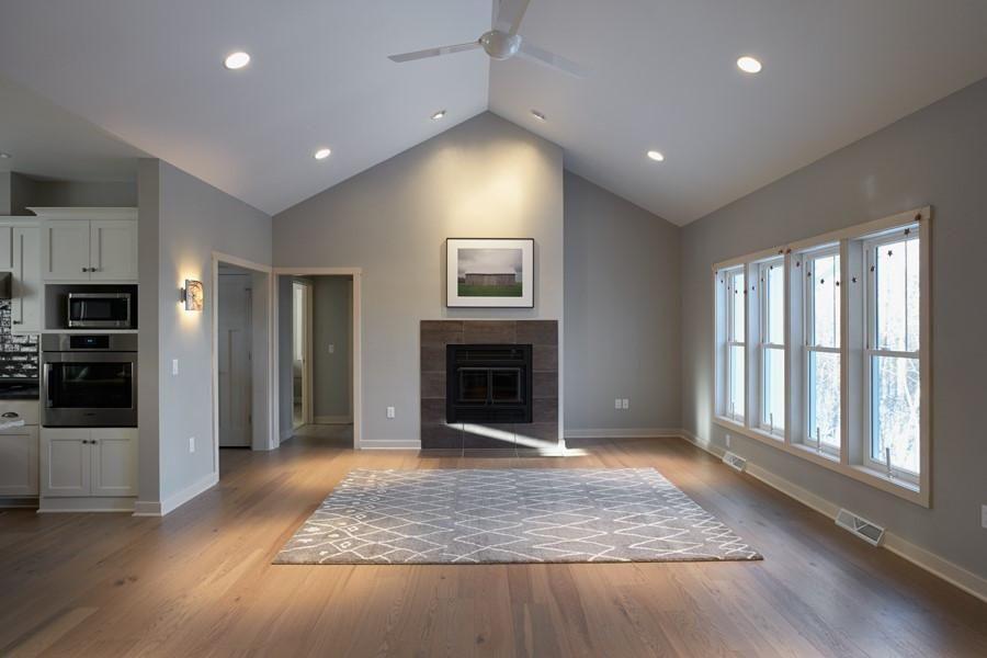 Warm Oak Floors With Cool Gray Walls Living Room Wood Floor