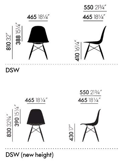 Buy Vitra Eames Plastic Chair Dsw Without Upholstery Old Colours By Charles Ray Eames 1950 Eames Plastic Chair Chair White Leather Dining Chairs