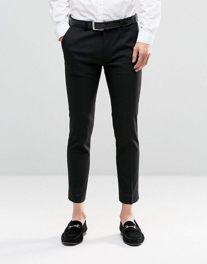 0801e47ca8 Imagen 1 de Pantalón capri de vestir muy ajustado en negro de ASOS