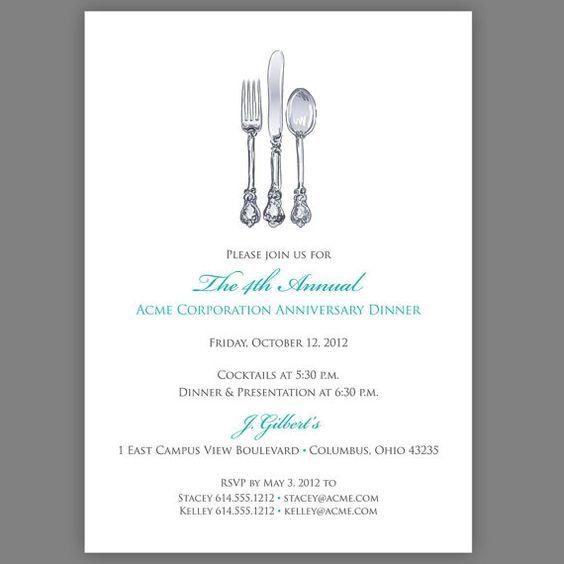 Dinner Invitation Company Fundraiser Write Letter Fundraising