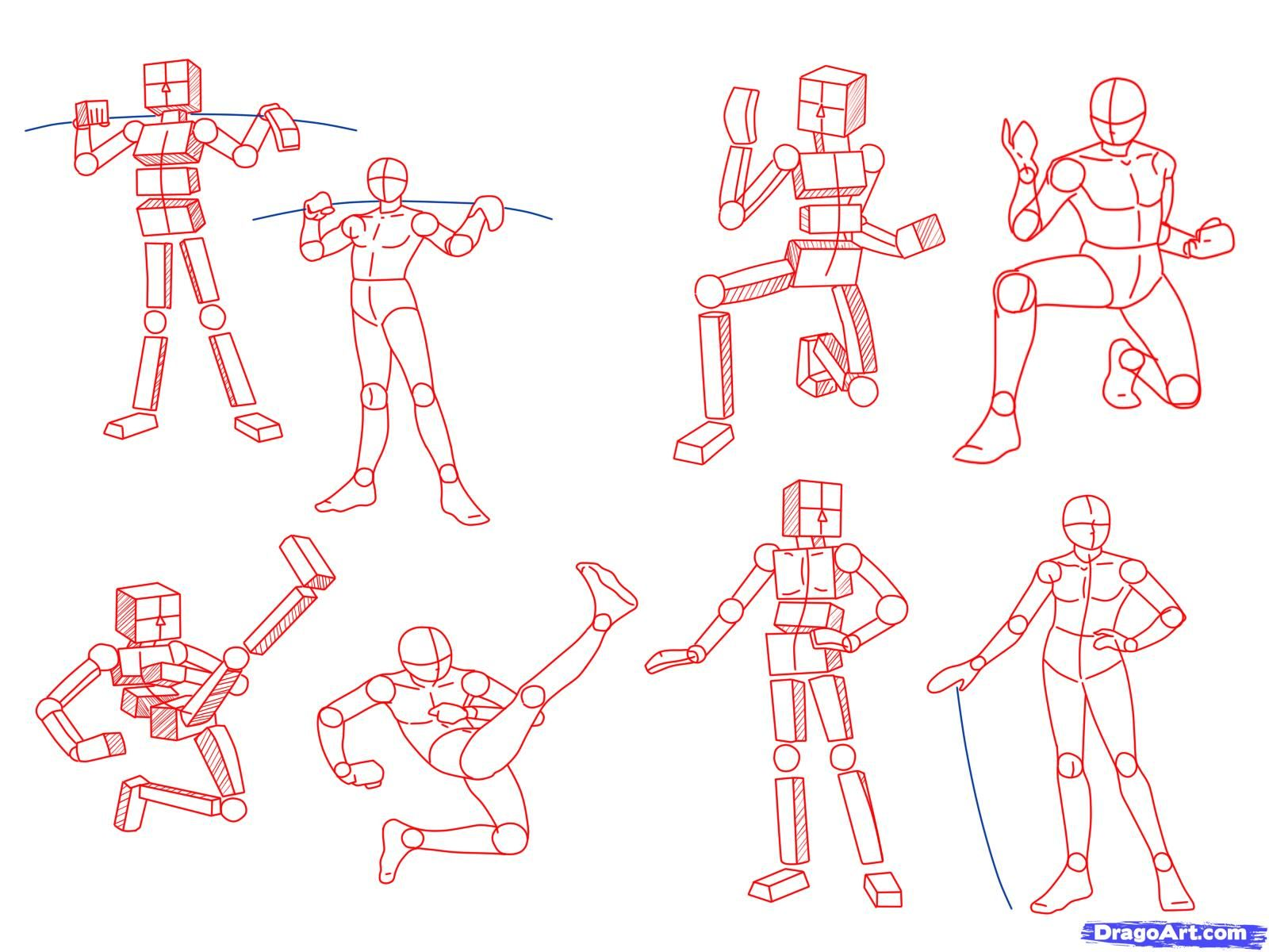 Anime Poses Step 2 Think About Drawing Simple Polygons When You Are Drawing An Illustration You Don T Have To Anime Poses Drawing Tutorial Anime Drawings