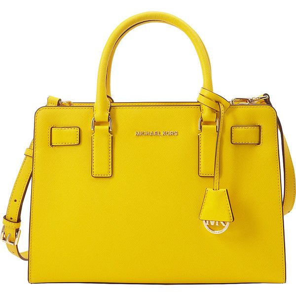 0f84cd873fafab Michael Michael Kors Top Zip Ew Satchel ($298) ❤ liked on Polyvore  featuring bags, handbags, yellow, shoulder strap purses, handbag satchel,  michael ...