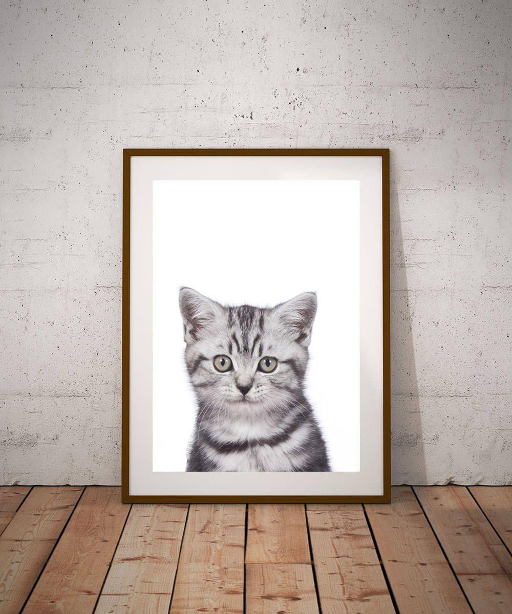 Cat Poster Bengal Cat Print Instant Download Cat Wall Art Prints Cat