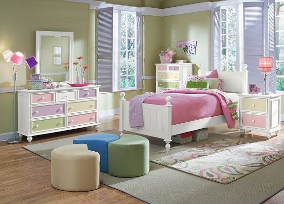 Colorworks White Kids Furniture Collection - Furniture.com-Twin Bed ...