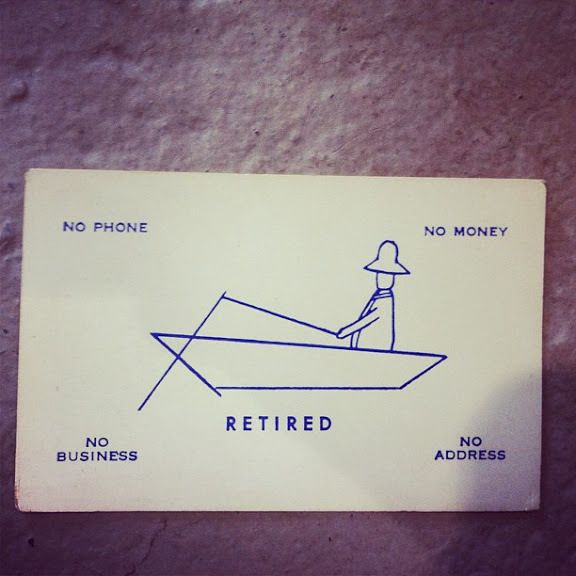 Retired Business Card Seriously This Is Just Funny