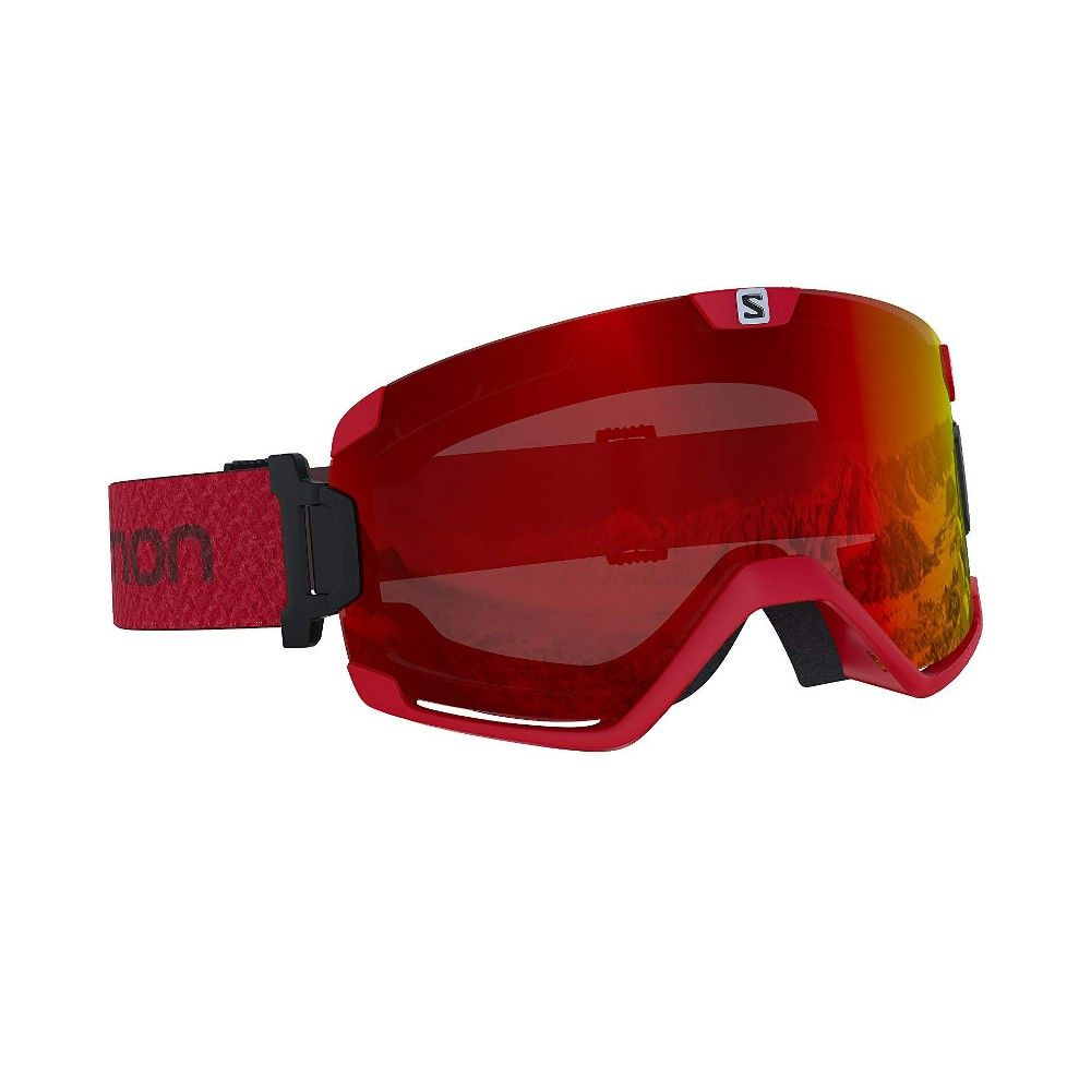 Salomon Cosmic Photo Red Over The Glass Fog Free Skiing Snowboarding Goggles Snowboard Goggles Free Skiing Skiing Snowboarding