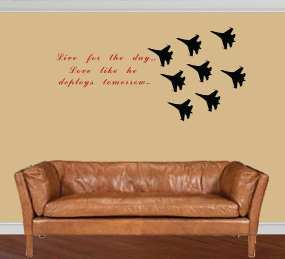 Custom Quote Air Force Decal Fighter Jets By Diyvinyldesigns   Love This