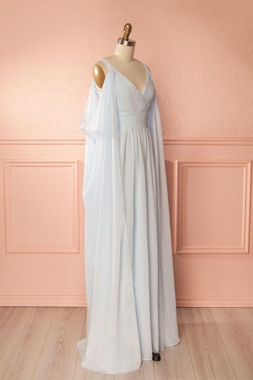 Kanila Light Blue Off-Shoulder Bridesmaid Gown | Boudoir 1861