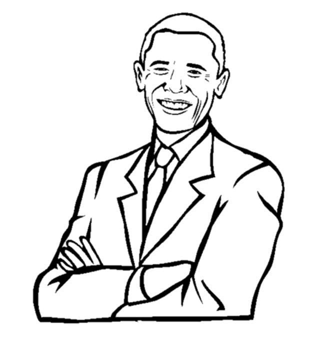 President Barack Obama Smile Coloring Pages Barack Obama Barack