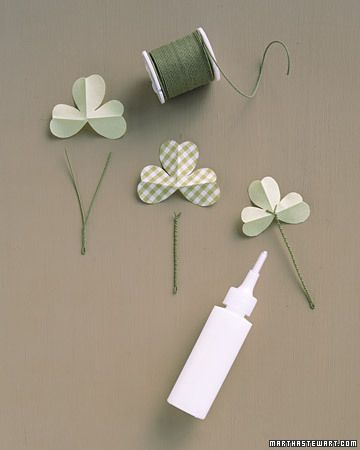Shamrock Boutonnieres St Patrick S Day Crafts St Paddys Day Crafts