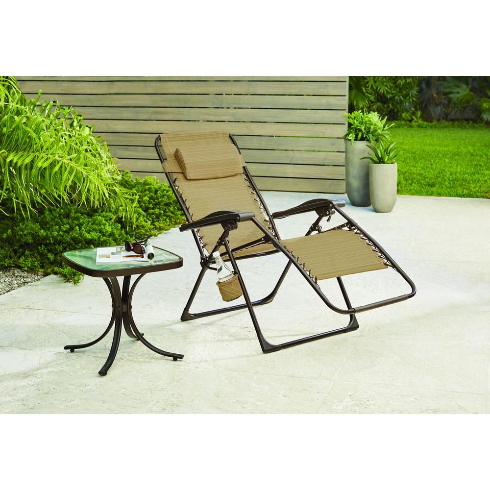Zero Gravity Outdoor Lounge Chair Hampton Bay Mix And Match Zero Gravity Sling Outdoor Chaise Lounge