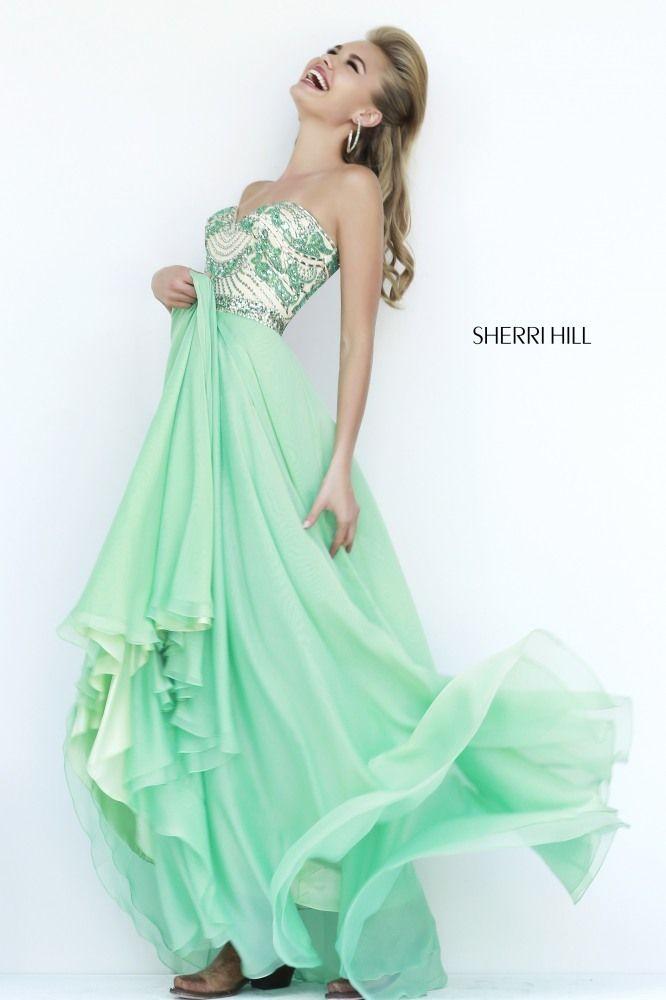 Sherri Hill 2015 Prom Dresses Jade Color