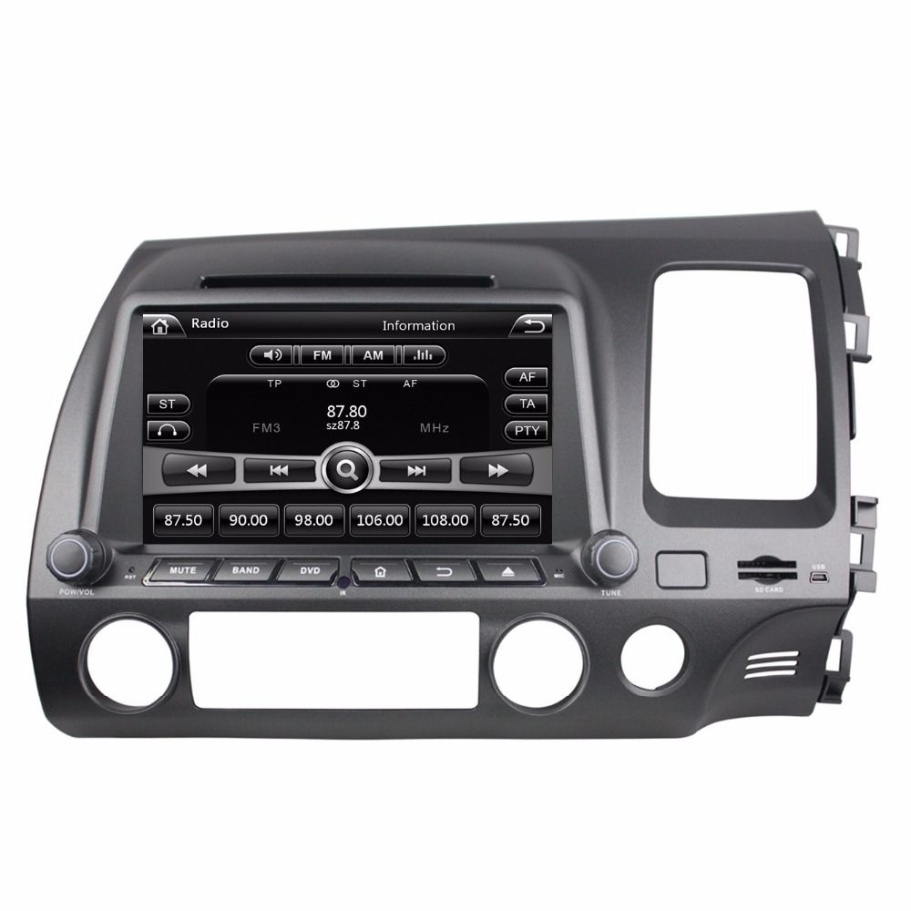 Touch Screen Hd 2 Din 8 Car Radio Dvd Gps For Honda Civic Right