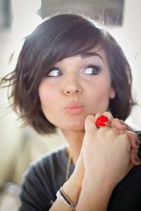 Stupendous Bob Bangs Google And Bobs On Pinterest Hairstyles For Women Draintrainus