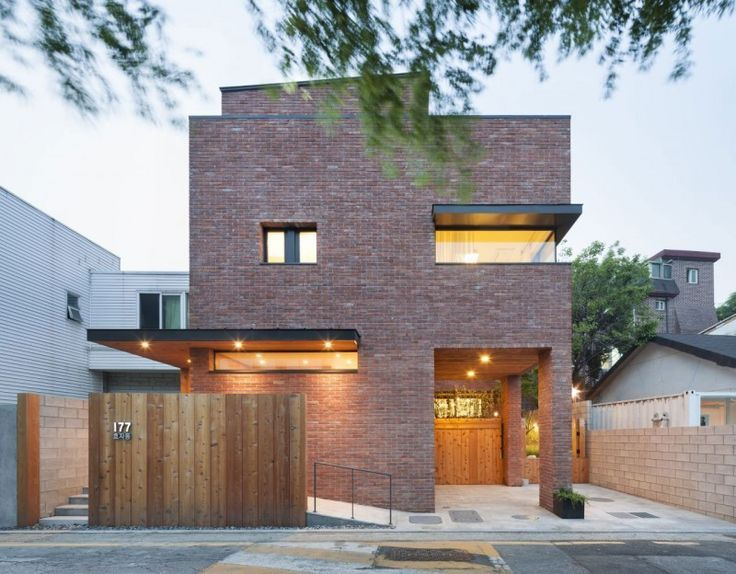 Gorgeous modern brick homes get pinkish tone from soil - Curbed