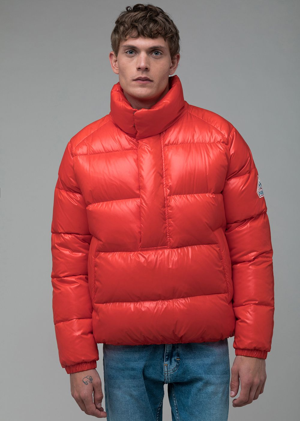 Homme Sport Vêtements D'hiver Rouge Court Doudoune Chauds