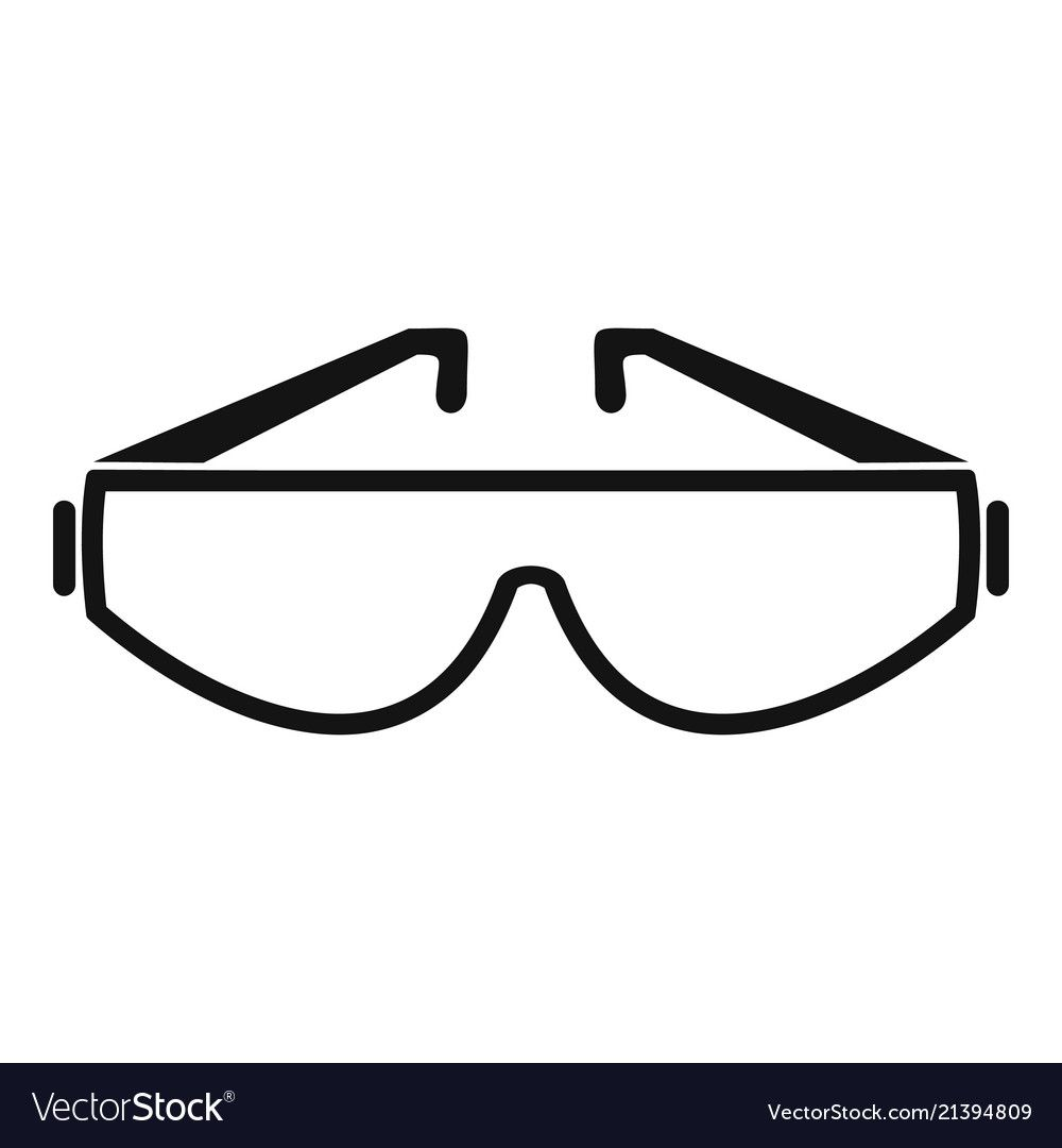 Safety Glasses Icon Simple Illustration Of Safety Glasses Vector Icon For Web Design Isolated On White Background Do Simple Illustration Simple Style Glasses