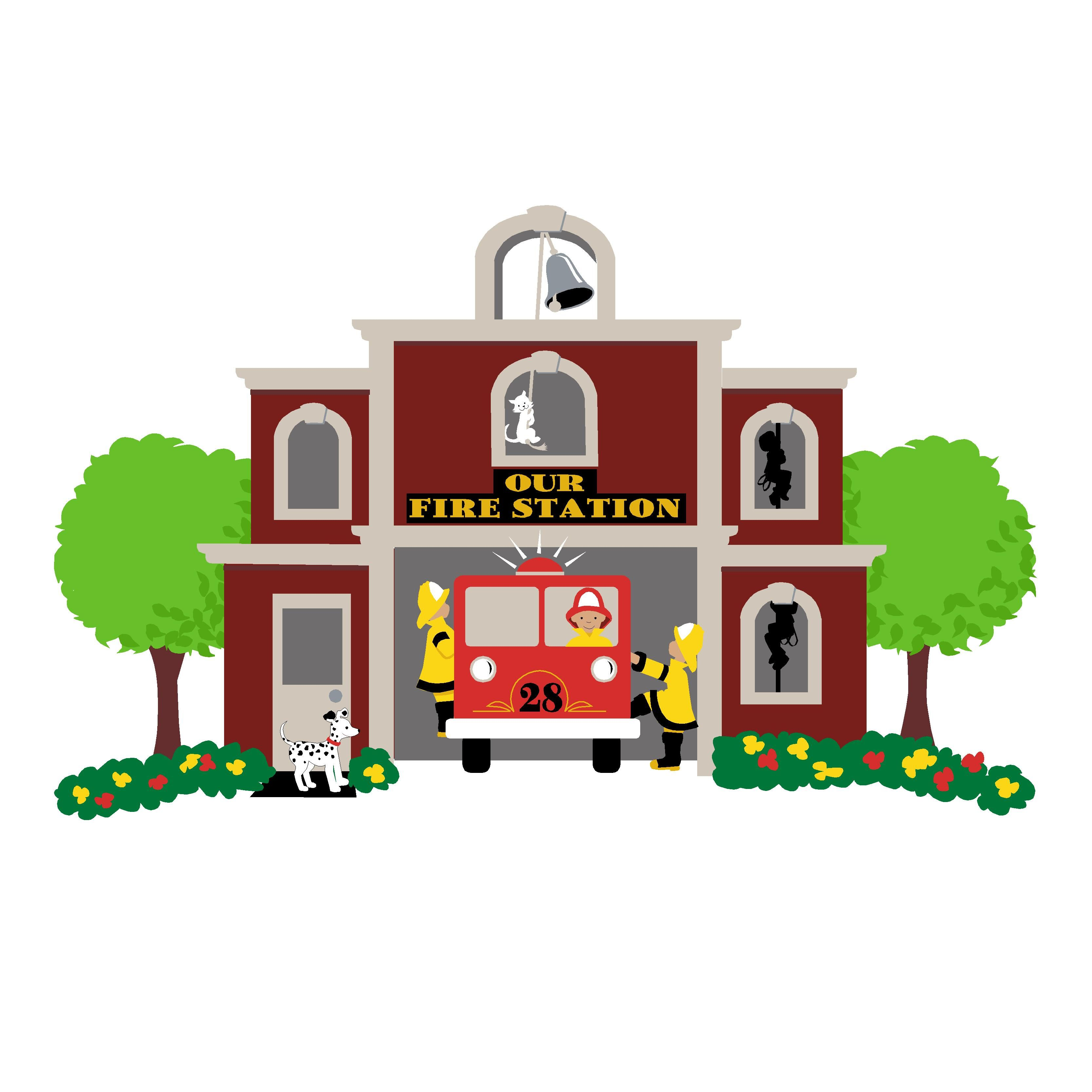 Our Fire Station Paint By Number Wall Mural Wall Murals Fire Station Mural