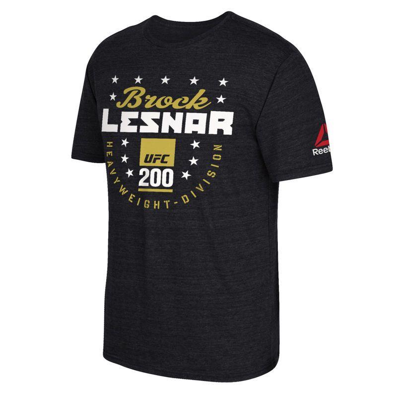 a44934e23d9 Brock Lesnar Reebok UFC 200 Heavyweight Division T-Shirt - Heathered Black