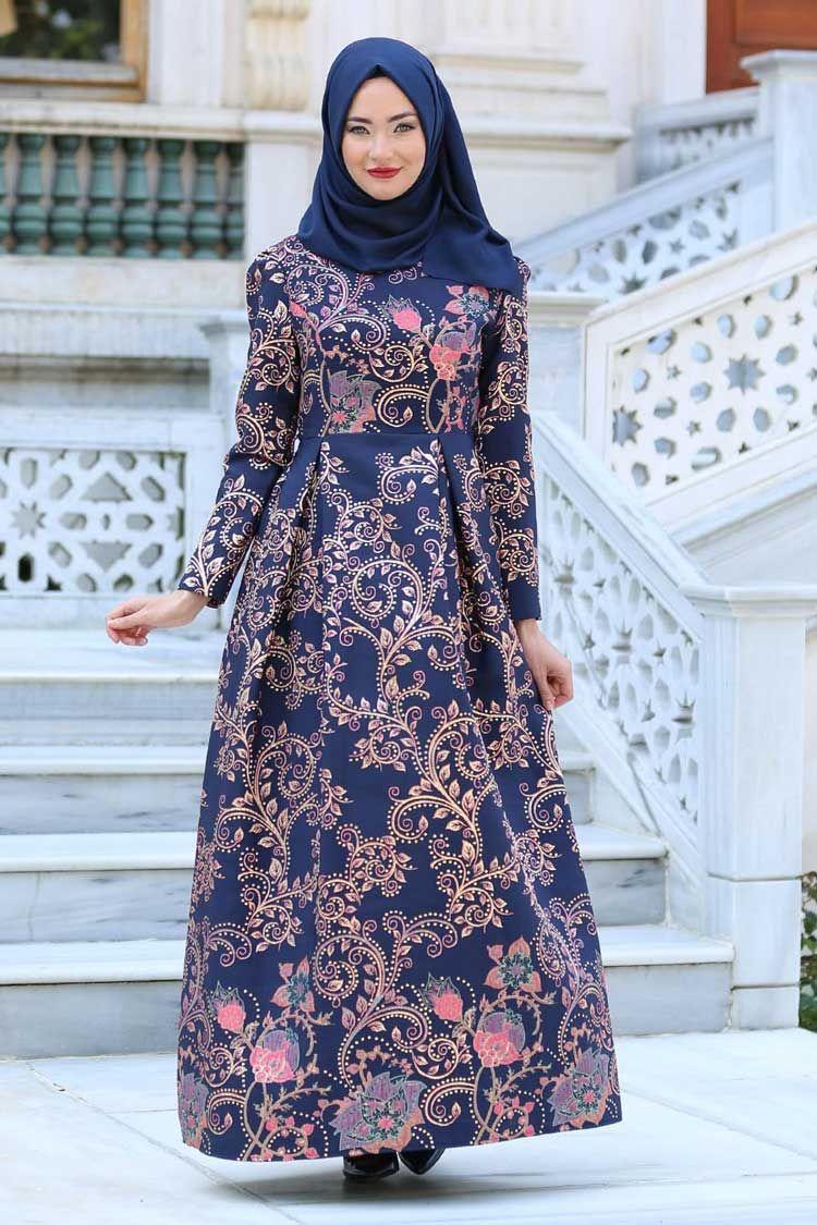 Model Gamis Batik Bunga  Pakaian model, Pakaian islami, Model pakaian