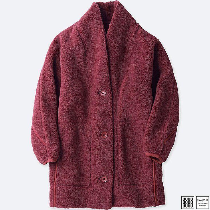 Women u fleece long-sleeve cardigan | Uniqlo, Fleece cardigan and ...