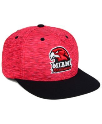 Top of the World Miami RedHawks Energy 2-Tone Snapback Cap - Red/Black Adjustable